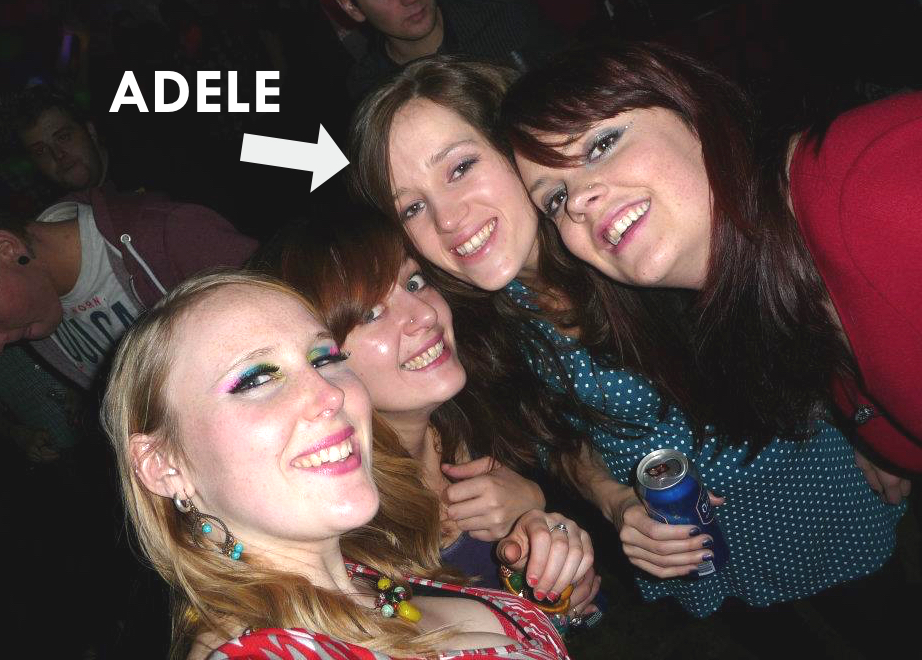 Office manager Adele with her twin Sarah and other Nozstock lovelies Beth and Ffion.