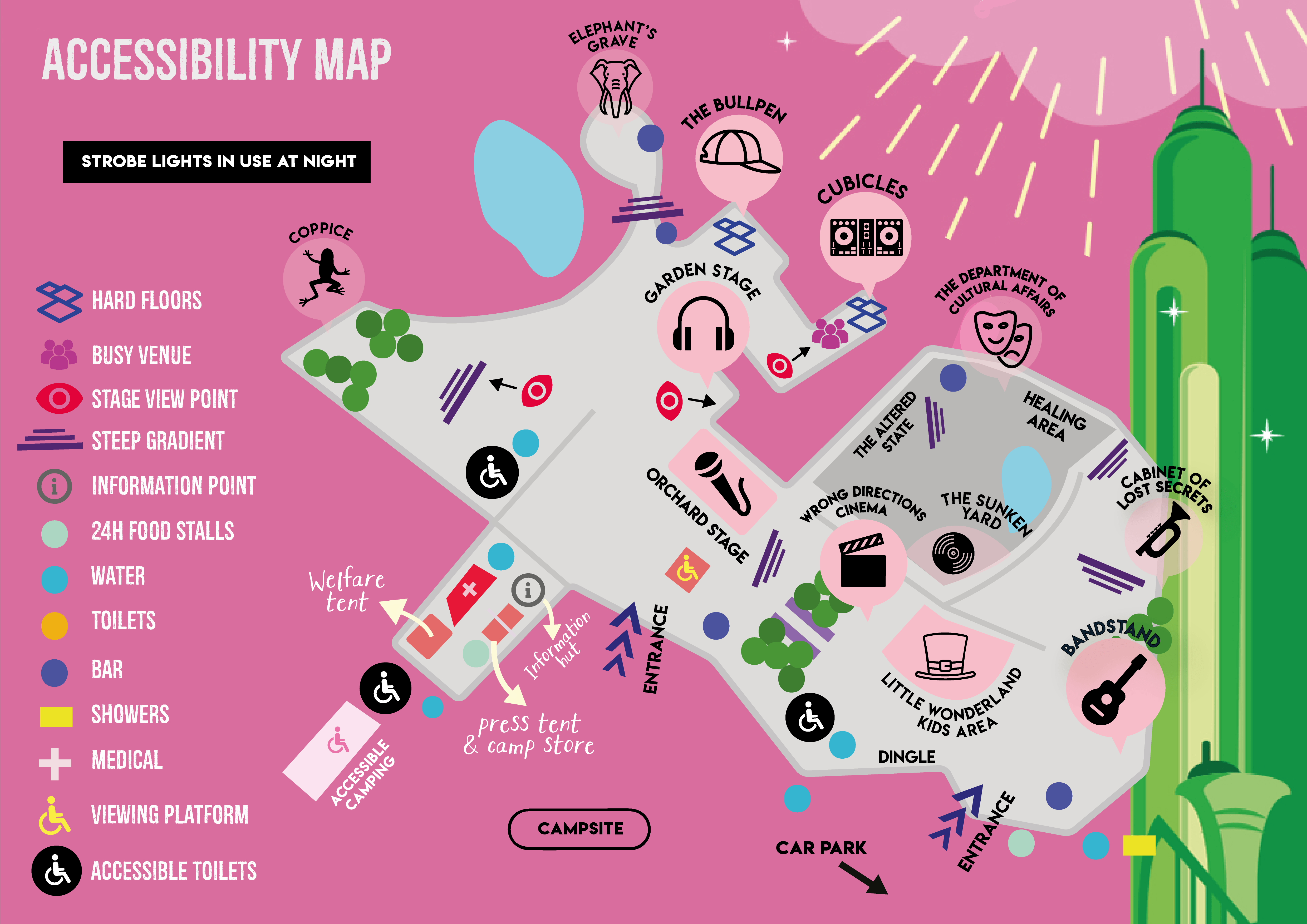 Accessibility map of Nozstock 2019