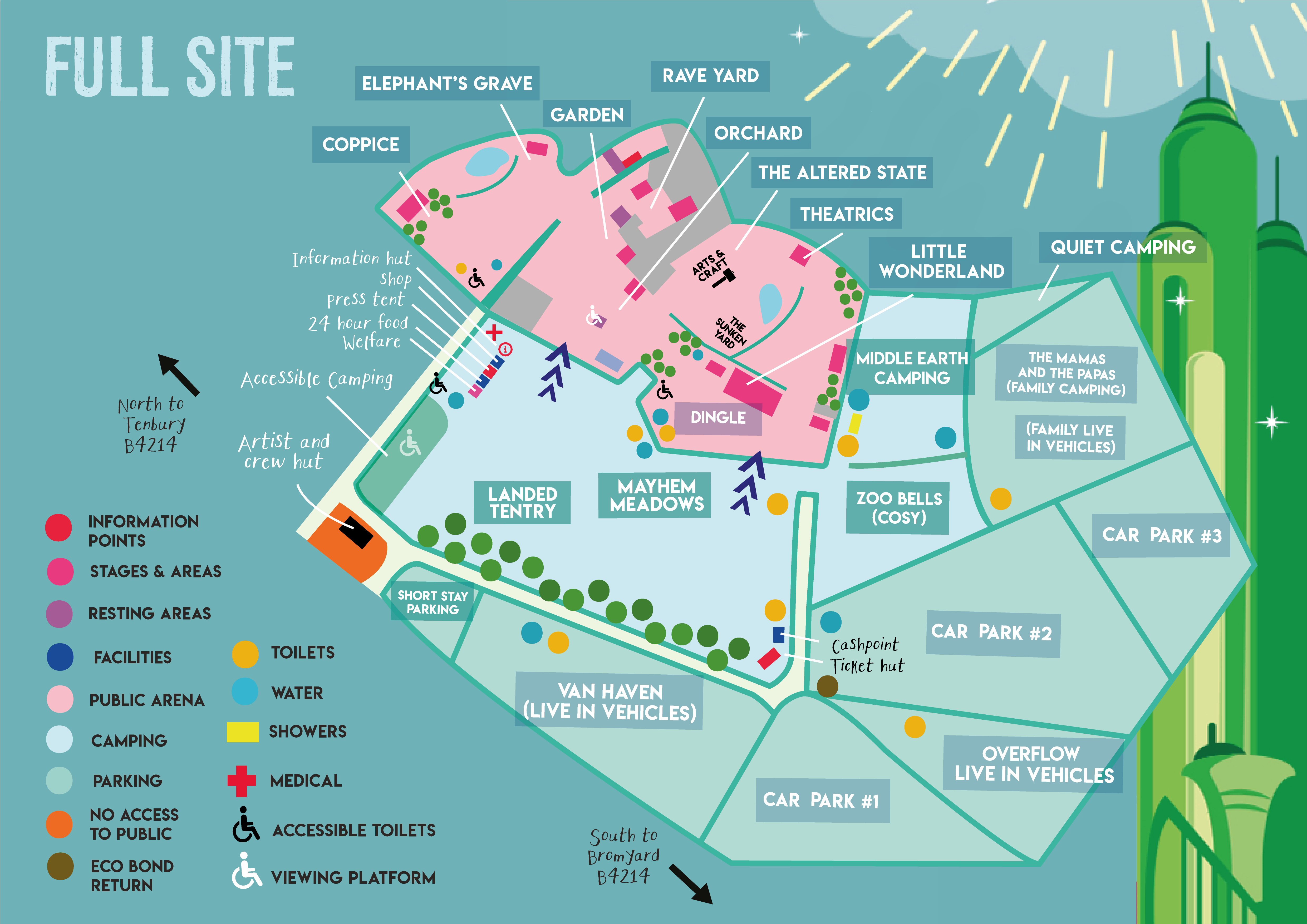 Full site map of Nozstock 2019