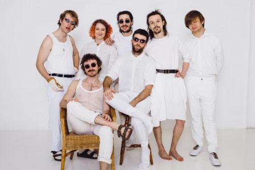 Band in white