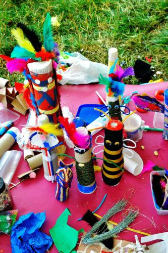 Totems and craft supplies