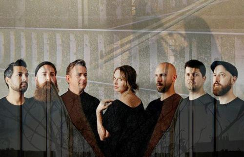 7-piece band with architectural dissolve effect