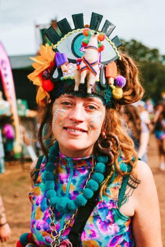 Woman wearing head-dress