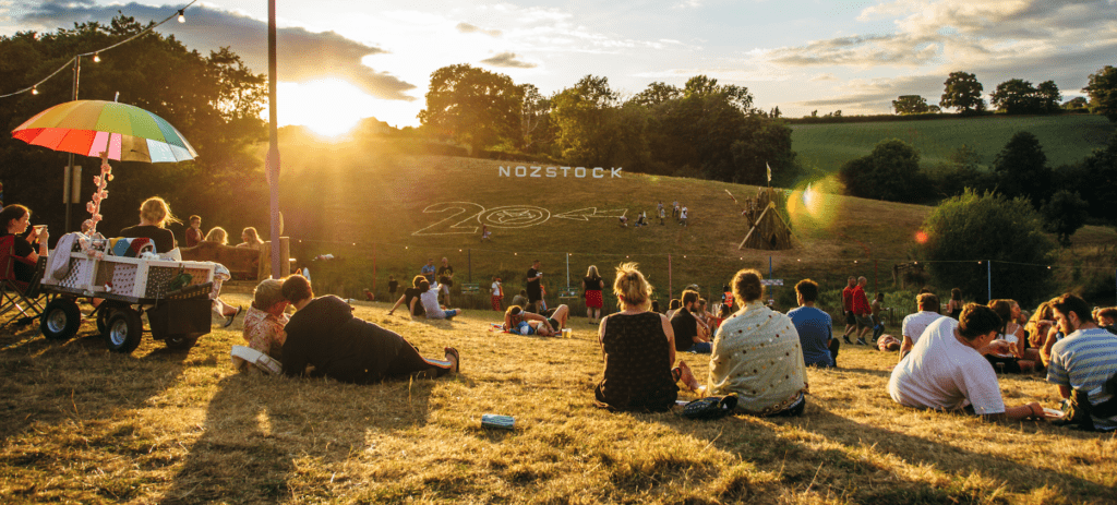 Sunlight over the hill at Nozstock